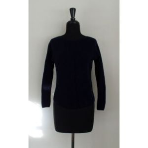 Vince Navy Blue 100% Cashmere Tiny Fit Sweater